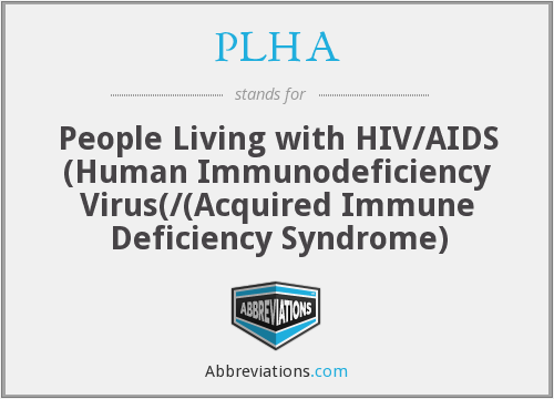 What does PLHA stand for?