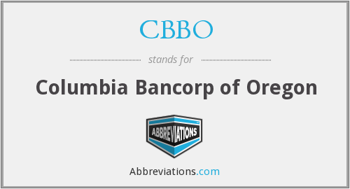 What does CBBO stand for?