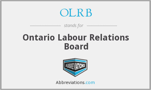 What does OLRB stand for?