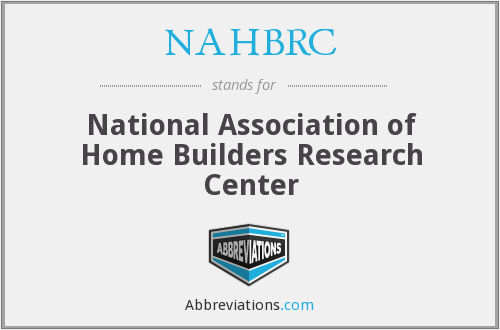 What does NAHBRC stand for?