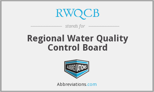 What does RWQCB stand for?