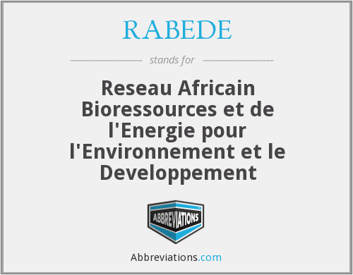 What does RABEDE stand for?
