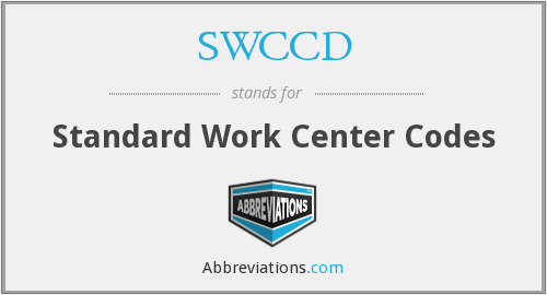 What does SWCCD stand for?