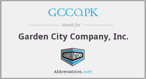 What does GCCO.PK stand for?