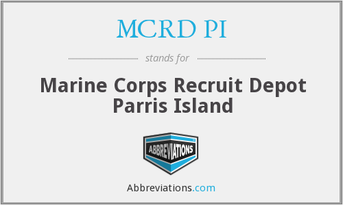 What does MCRD PI stand for?