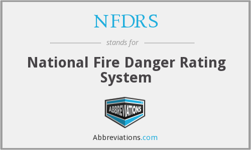 What does NFDRS stand for?