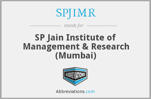 What does SPJIMR stand for?