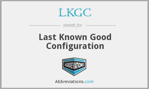 What does LKGC stand for?
