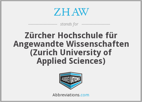 What does ZHAW stand for?