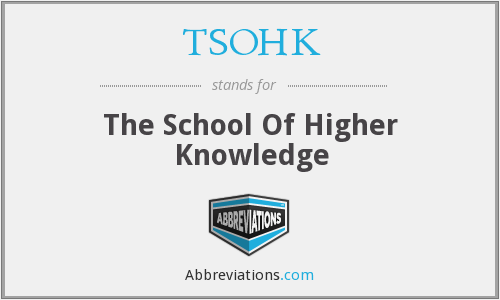 What does TSOHK stand for?