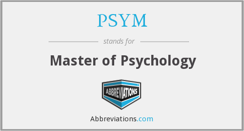 What does PSYM stand for?