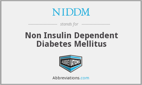 What does NIDDM stand for?