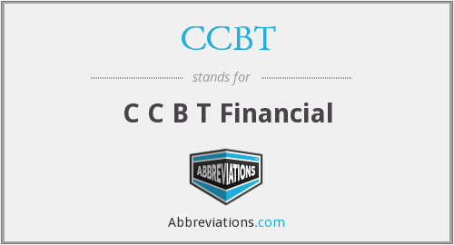 What does CCBT stand for?