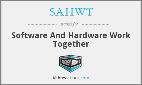 What does SAHWT stand for?