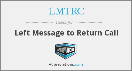 What does LMTRC stand for?