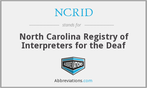 What does NCRID stand for?