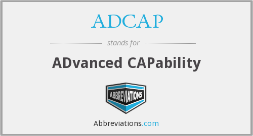 What does ADCAP stand for?