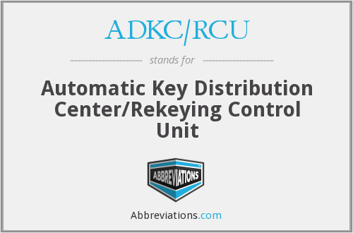 What does ADKC/RCU stand for?