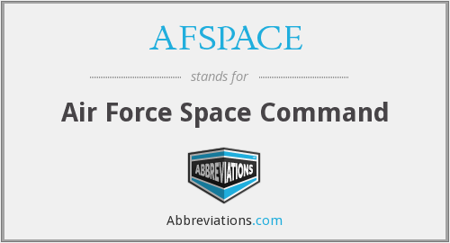 What does AFSPACE stand for?