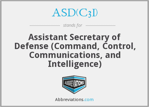 What does ASD(C3I) stand for?