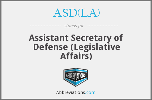 What does ASD(LA) stand for?