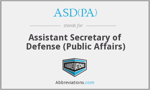What does ASD(PA) stand for?