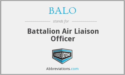 What does BALO stand for?