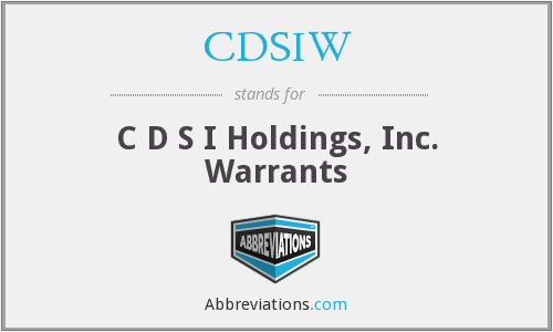What does CDSIW stand for?