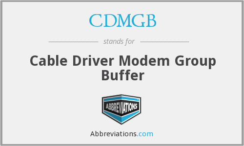 What does CDMGB stand for?