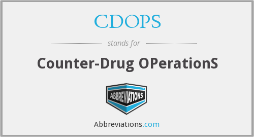 What does CDOPS stand for?
