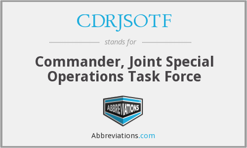 What does CDRJSOTF stand for?