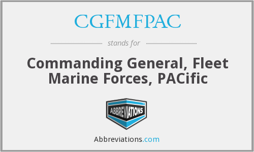 What does CGFMFPAC stand for?
