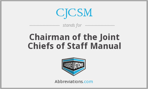 What does CJCSM stand for?
