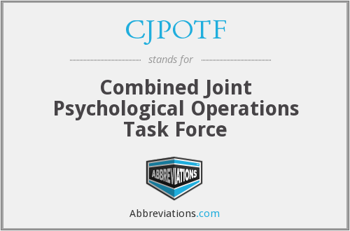 What does CJPOTF stand for?