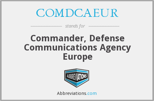 What does COMDCAEUR stand for?