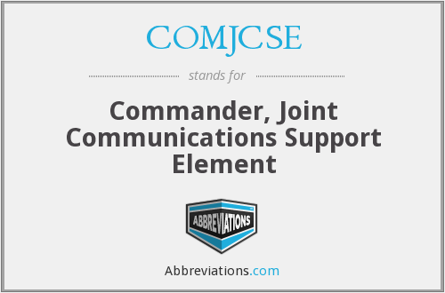 What does COMJCSE stand for?