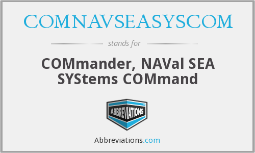 What does COMNAVSEASYSCOM stand for?