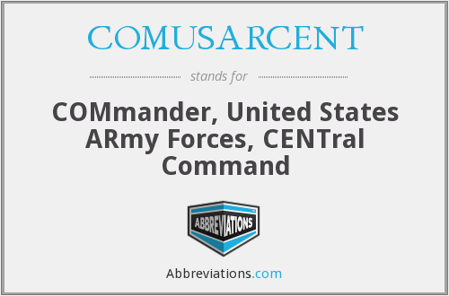 What does COMUSARCENT stand for?