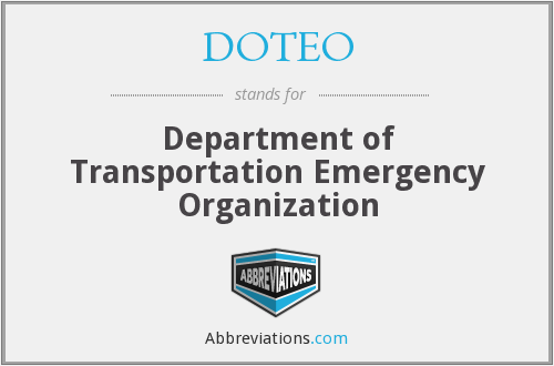 What does DOTEO stand for?