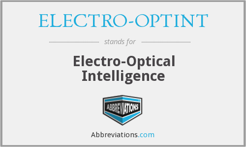 What does ELECTRO-OPTINT stand for?