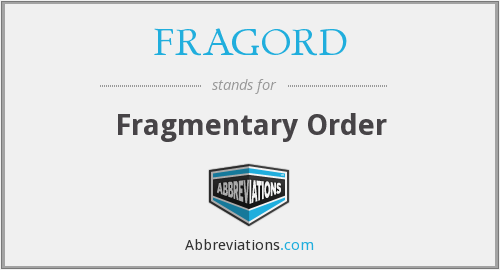 What does FRAGORD stand for?