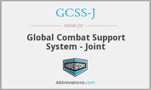 What does GCSS-J stand for?