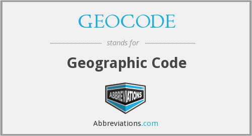 What does GEOCODE stand for?