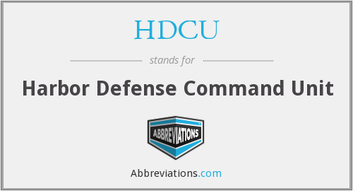 What does HDCU stand for?