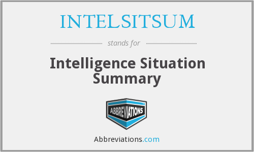 What does INTELSITSUM stand for?