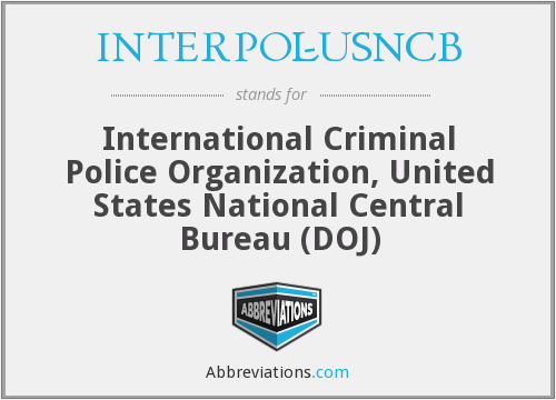 What does INTERPOL-USNCB stand for?