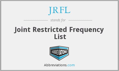 What does JRFL stand for?