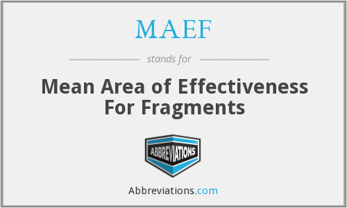 What does MAEF stand for?
