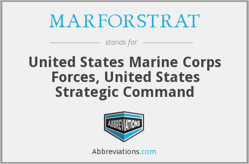 What does MARFORSTRAT stand for?