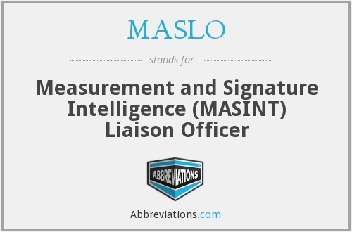 What does MASLO stand for?